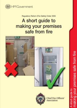 Fire Risk Assessment Template based on the Short Guide to Making Your Premises Safe