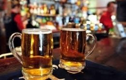 Licensing Applications with two pints of beer on a bar